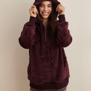 Aerie cozy quarter-zip sweatshirt, xs